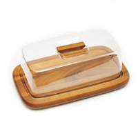 Доска разделочная с прозрачным колпаком для сыра