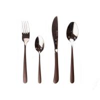 Набор столовых приборов MIRROR глянец/коричневый, 24 предмета